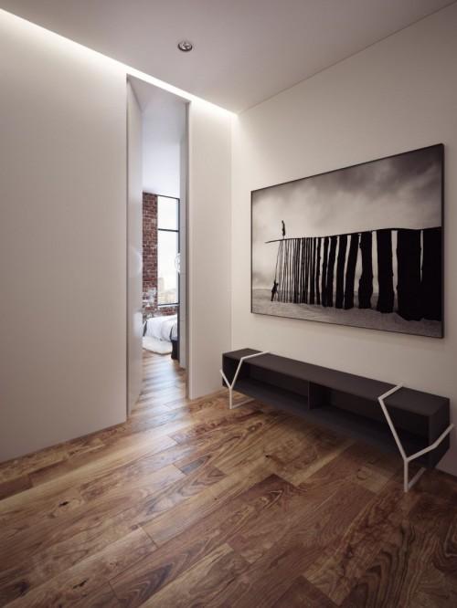 Slaapkamer met luxe loft penthouse