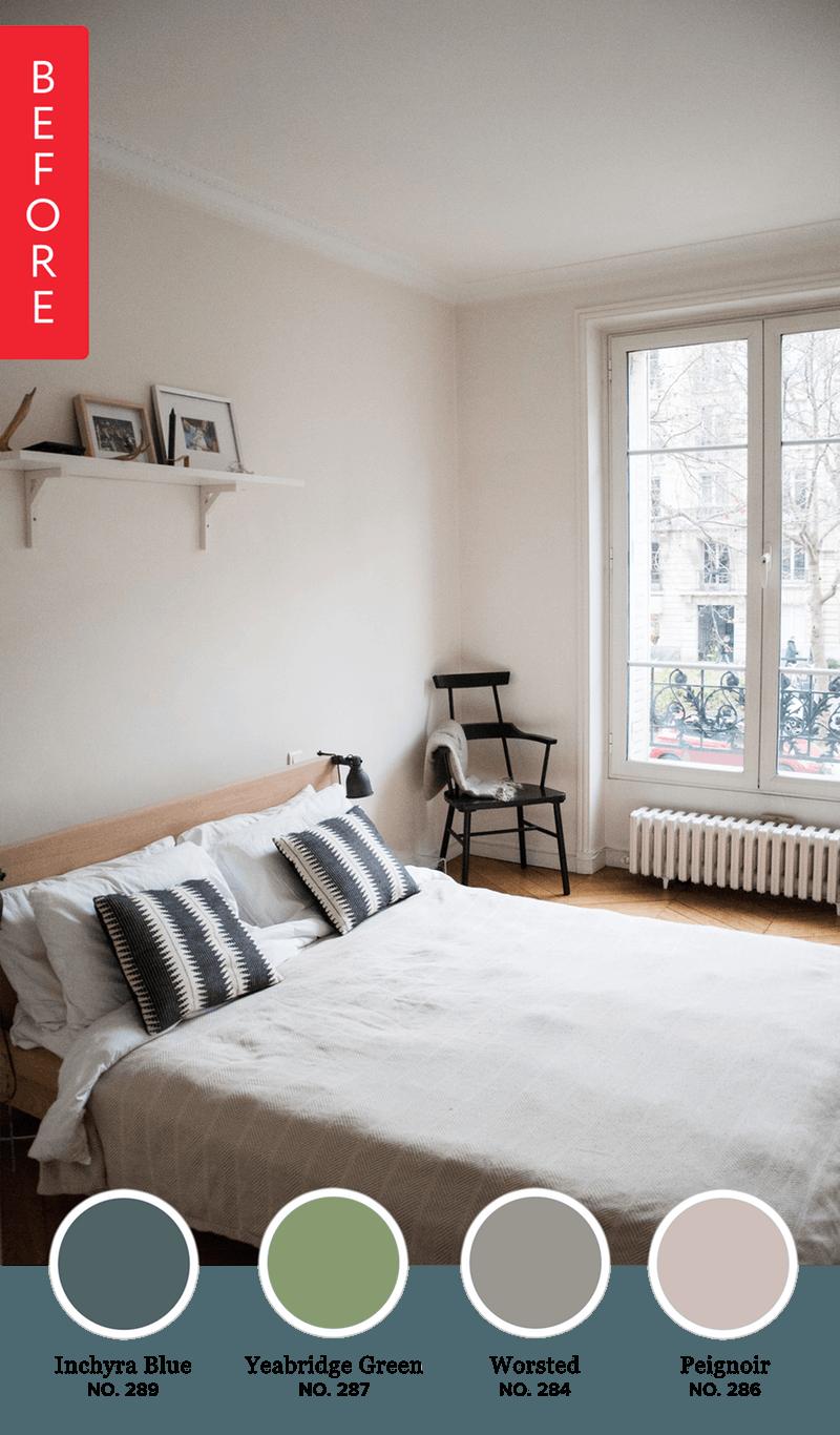 Slaapkamer makeover met zachtroze muren