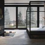 Slaapkamer met bad in vloer