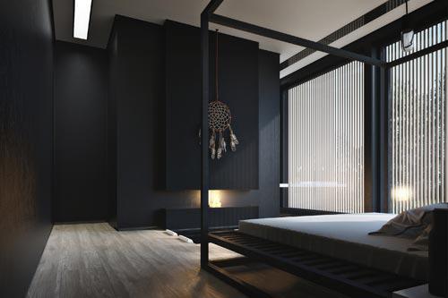 imgbd - slaapkamer zwarte muur ~ de laatste slaapkamer ontwerp, Deco ideeën