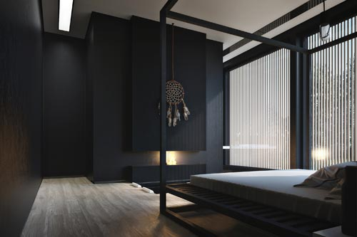 Slaapkamer met bad in vloer  Slaapkamer ideeën
