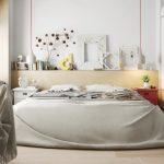 Slaapkamer met grote wand werkplek