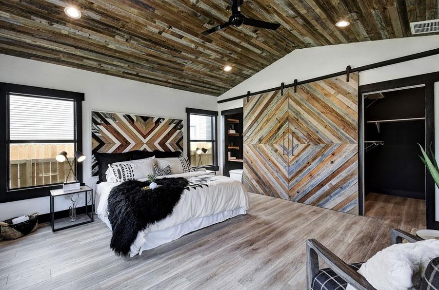 Slaapkamer met sloophout