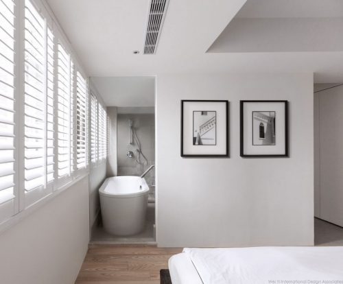 Glazen Wand Slaapkamer : Slaapkamer met uitzicht op badkamer door glazen wand slaapkamer