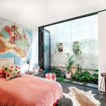 Slaapkamer met mix van verschillende decoratie accessoires