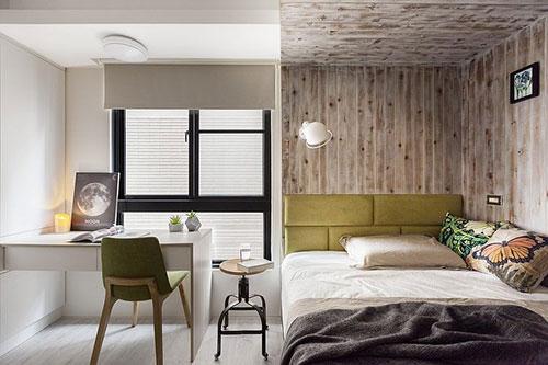 Slaapkamer met moderne rustieke uitstraling