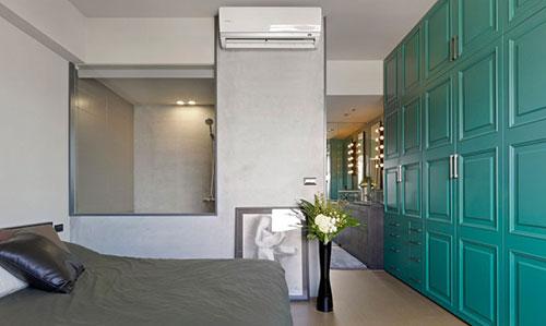 Slaapkamer Turquoise : Slaapkamer ontwerp door Ganna studio Slaapkamer ...