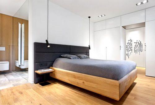 Slaapkamer ontwerp met inloopkast en open badkamer | Slaapkamer ideeën