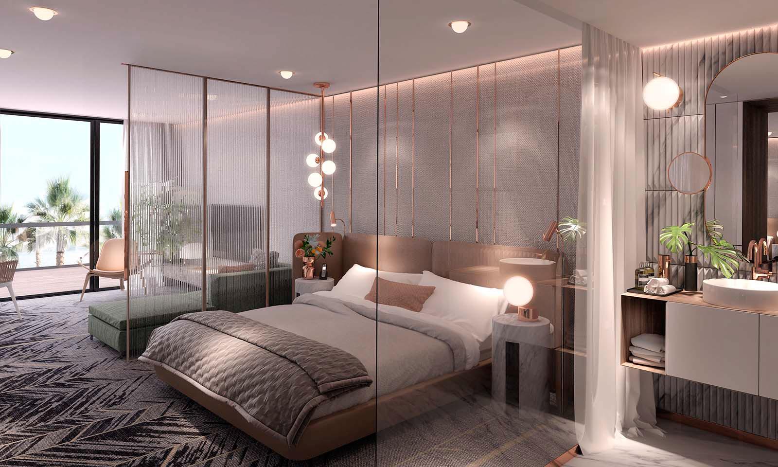 slaapkamer-ontwerp-met-koper-en-marmer