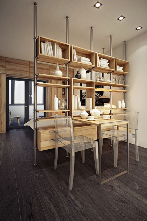 Slaapkamer ontwerp naast keuken