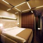 Slaapkamer ontwerp met verschillende texturen