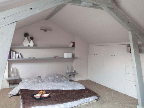 47 . Inrichting slaapkamer met schuine wanden : Wand In De Slaapkamer ...