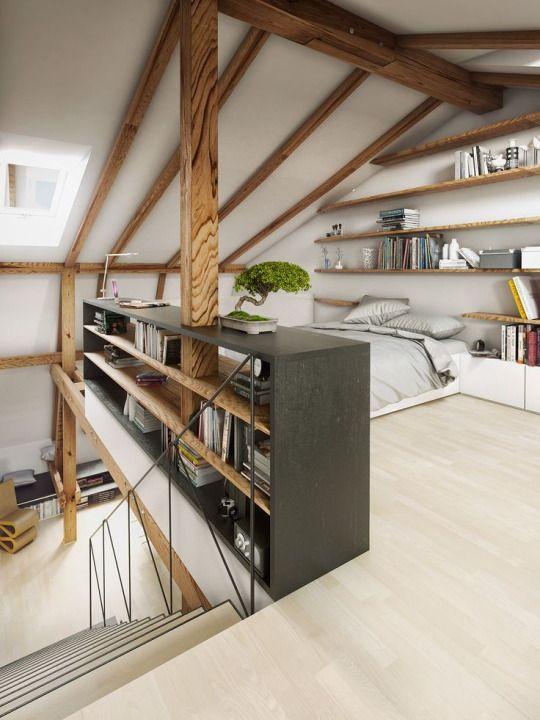 Slaapkamer op zolder