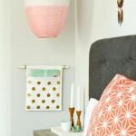 Slaapkamer met pastelkleuren