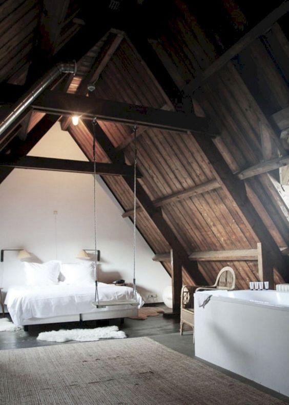 slaapkamer schuin dak schommel