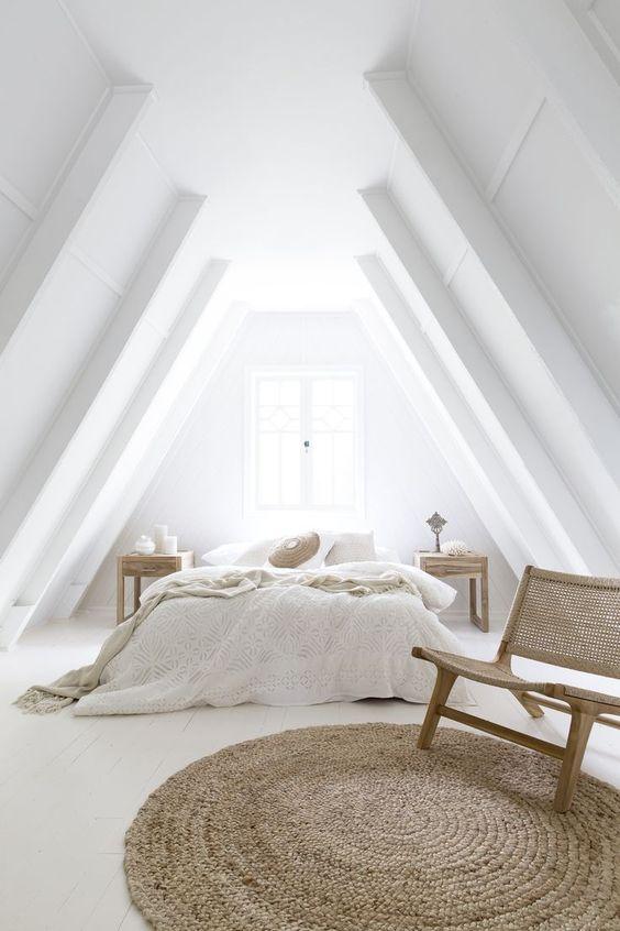 slaapkamer schuin dak wit