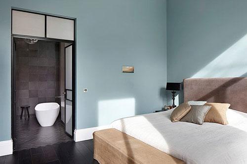 Slaapkamer van statig appartement slaapkamer idee n - Deco master suite met badkamer ...