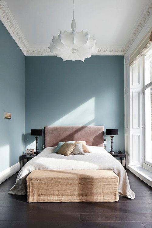 de muren in deze slaapkamer zijn blauw geschilderd! | slaapkamer, Deco ideeën