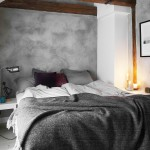 Slaapkamer met stoer geschilderde muren