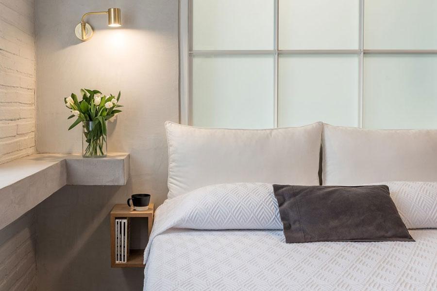 Slaapkamer suite met betonlook en hout