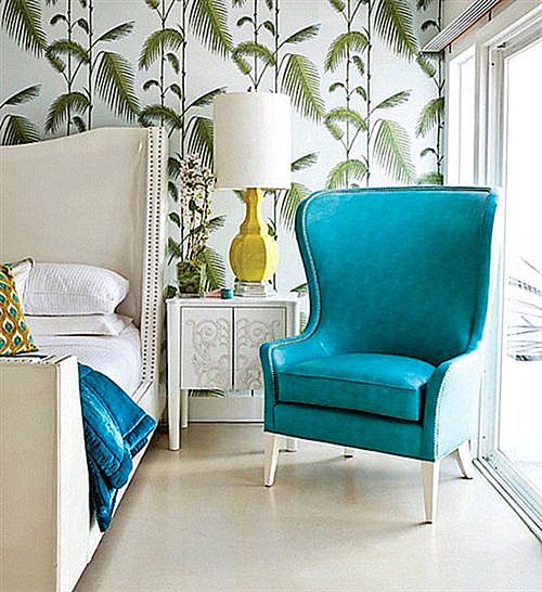 ... slaapkamer van Hedda en Michiel Kleine slaapkamer met bomen behang