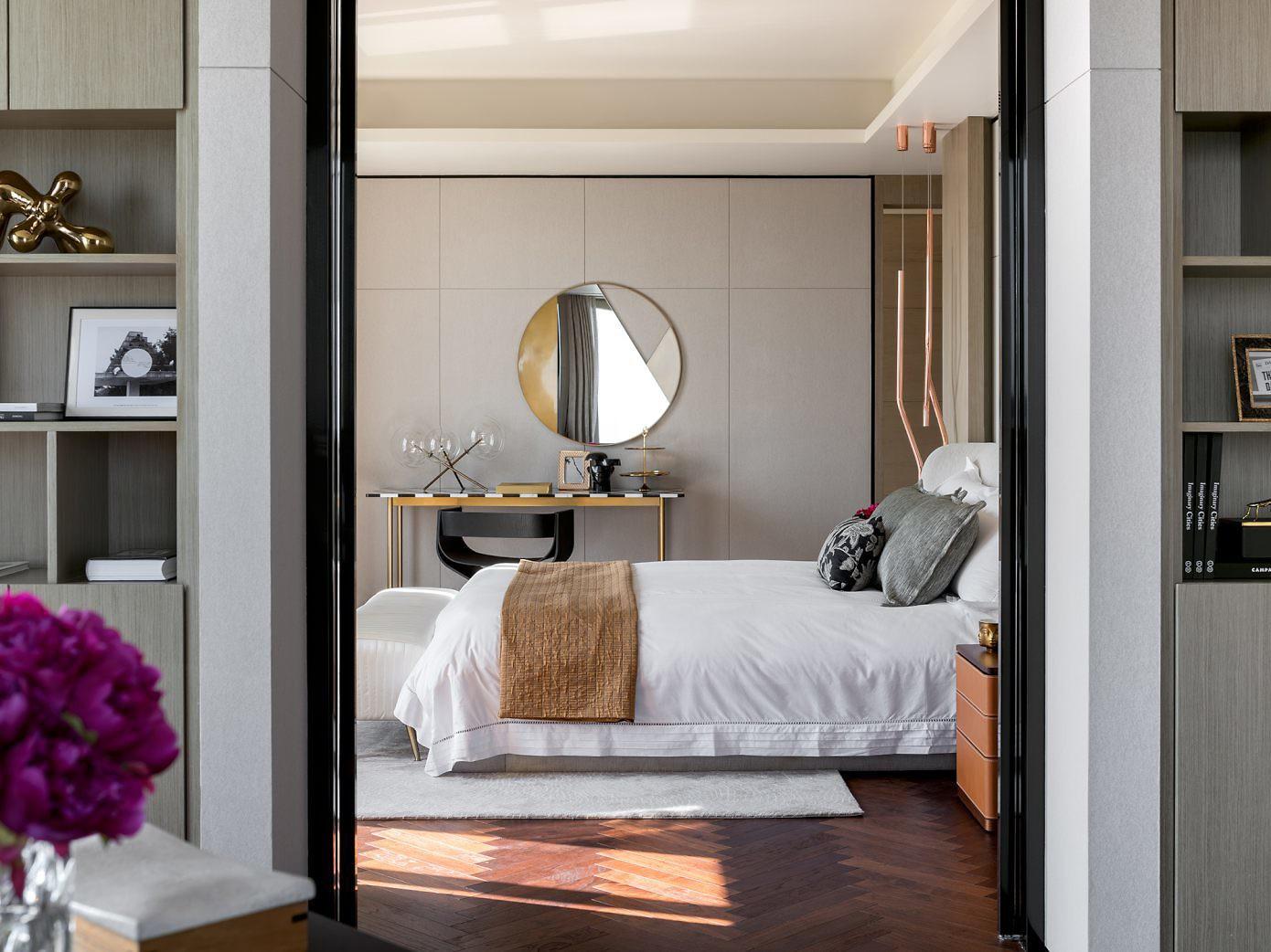 Slaapkamer van een luxe penthouse appartement uit China