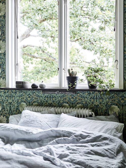 ... Ideeen Met Behang : Slaapkamer vol met bloemetjes behang idee?n