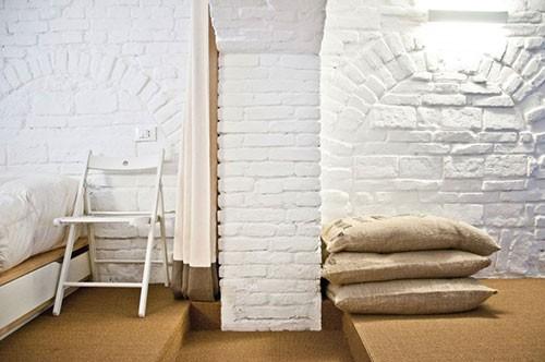 Slaapkamer van voormalige winkel