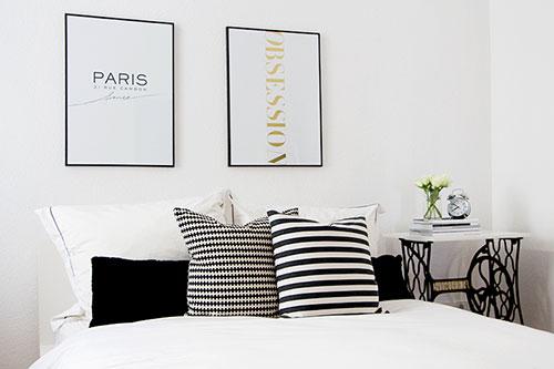 ... Ideeen slaapkamer muur : Decoratie ideeën voor een simpele slaapkamer