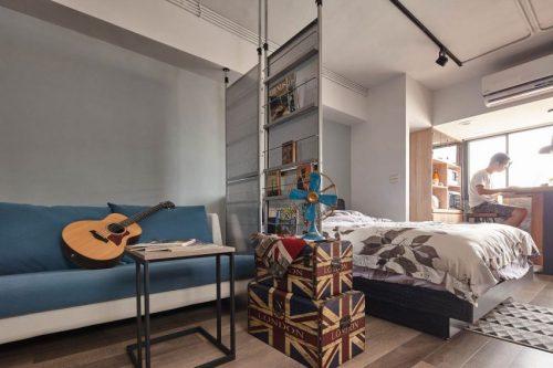Roomdevider In Woonkamer : Slaapkamer en woonkamer scheiden met roomdividers slaapkamer ideeën
