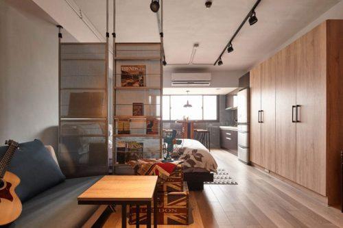 Woonkamer En Slaapkamer : Slaapkamer en woonkamer scheiden met roomdividers slaapkamer ideeën