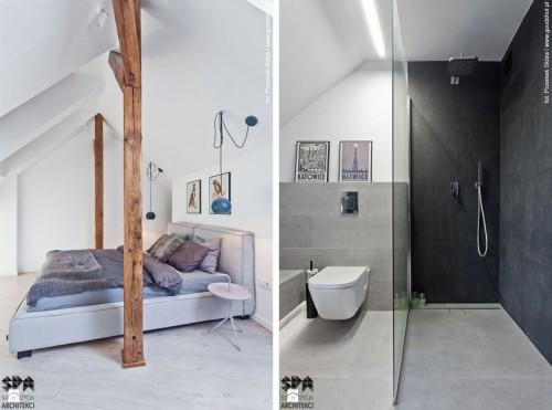 Slaapkamer van zolder appartement  Slaapkamer ideeën