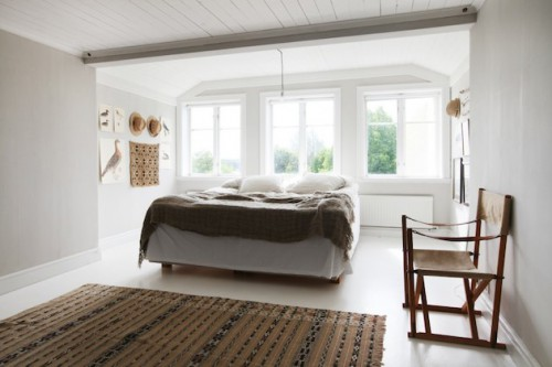 Slaapkamer van Zweedse stylist Mari Strengheilm