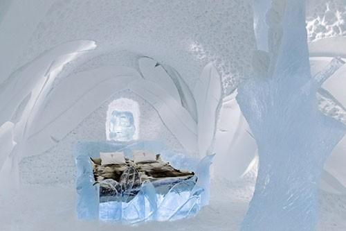 Slaapkamers van het Icehotel