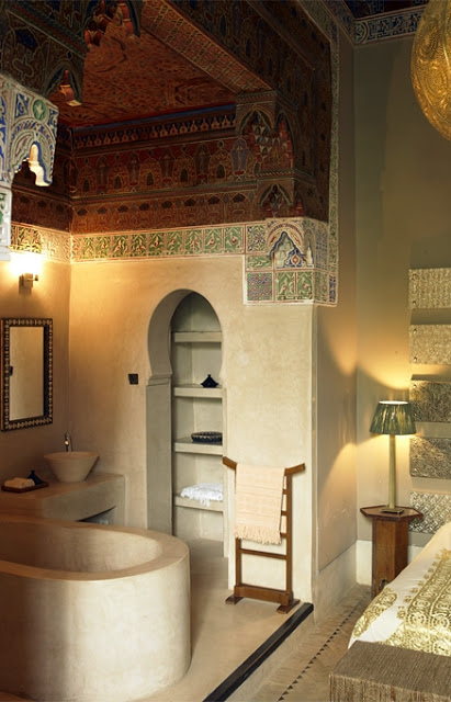 Slaapkamers van marokkaanse riad hotel slaapkamer idee n - Gemeubleerde salle de bains ontwerp ...