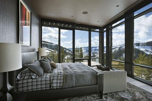 Slaapkamers van ski en golf resort in Montana