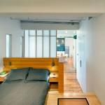 Speelse slaapkamer van loft