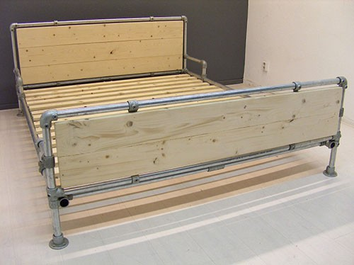 Steigerbuis bed slaapkamer idee n for Bed van steigerhout maken