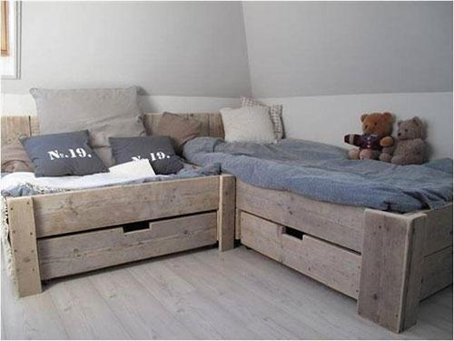 Steigerhouten bedden   Slaapkamer idee u00ebn