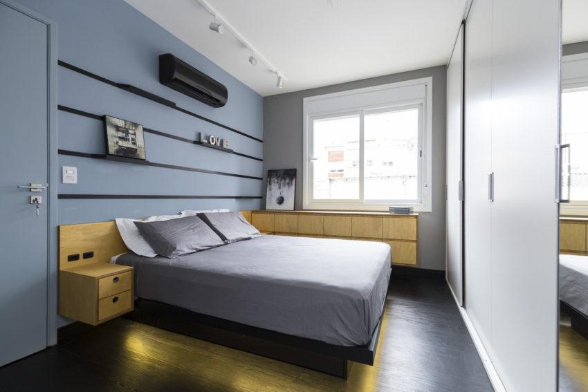 Stoer modern slaapkamer ontwerp door Braziliaanse architecten