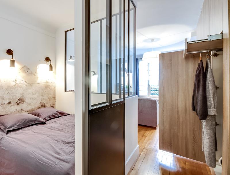 Stoere compacte slaapkamer van 2x2 meter
