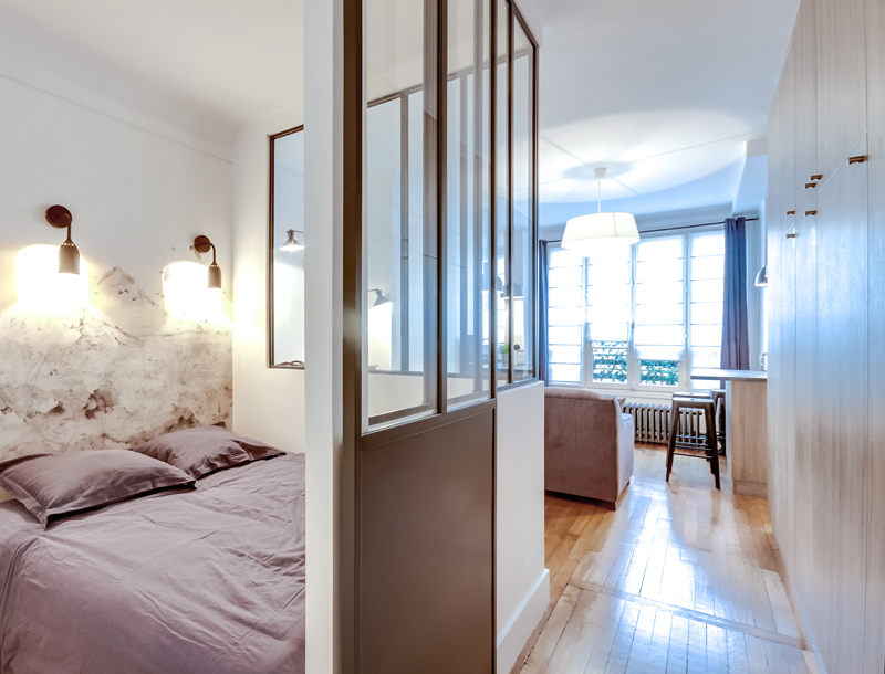 Stoere compacte slaapkamer van 2×2 meter