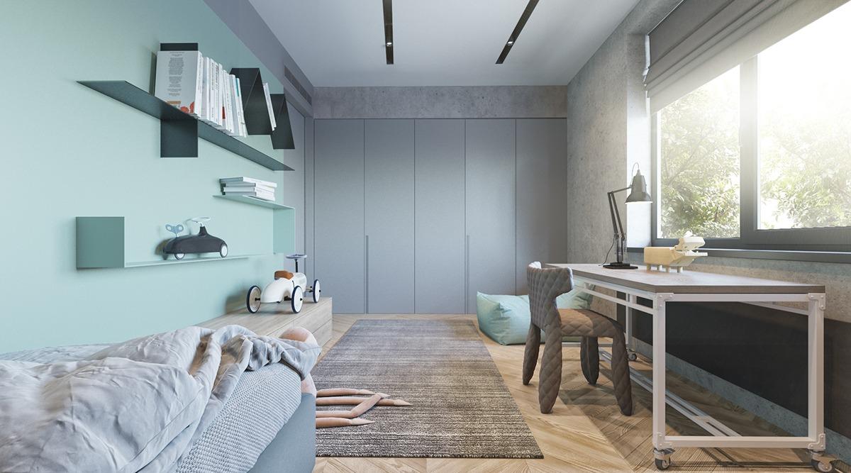 Stoere Stijlvolle Jongenskamer : Stoere groen en blauwe jongenskamer slaapkamer ideeën