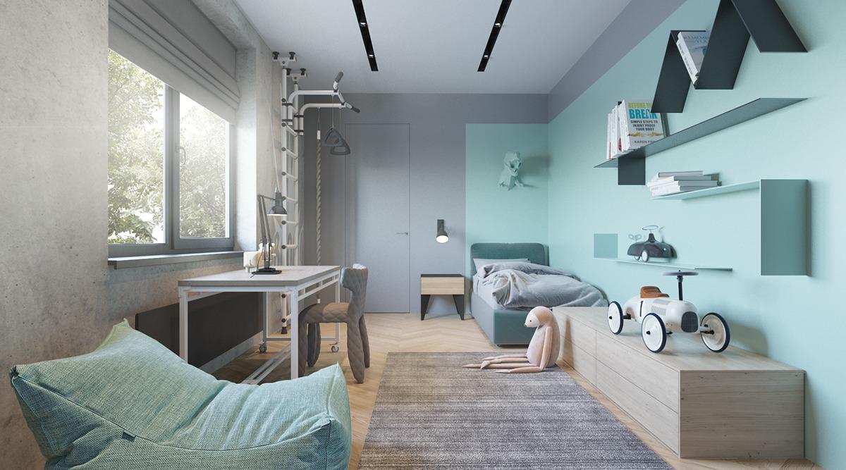 De Stoere Jongenskamer : Stoere groen en blauwe jongenskamer slaapkamer ideeën