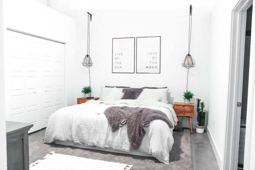 Stoere industriële slaapkamer van blogger en vlogger Shyla