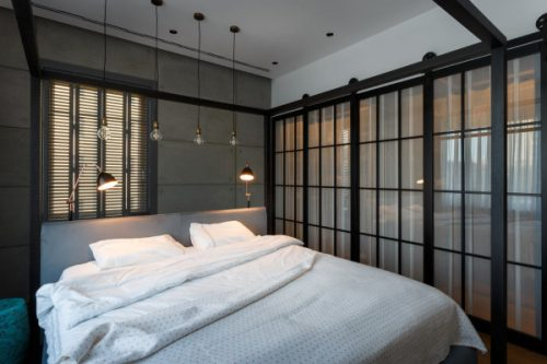 stoere industriele slaapkamer van kunstenares anna-maria, Deco ideeën
