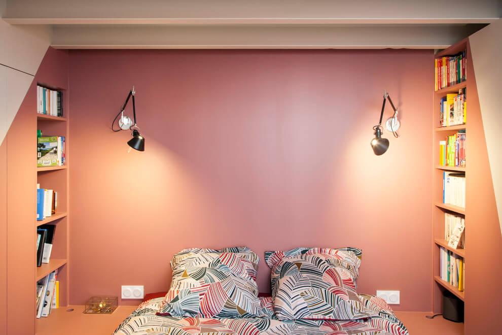 Slaapkamer Grijs Roze : Stoere loft slaapkamer met roze muren slaapkamer ideeën