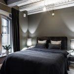 Stoere loft slaapkamer uit Stockholm!