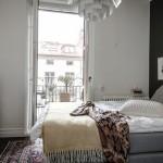 Stoere Scandinavische vintage slaapkamer