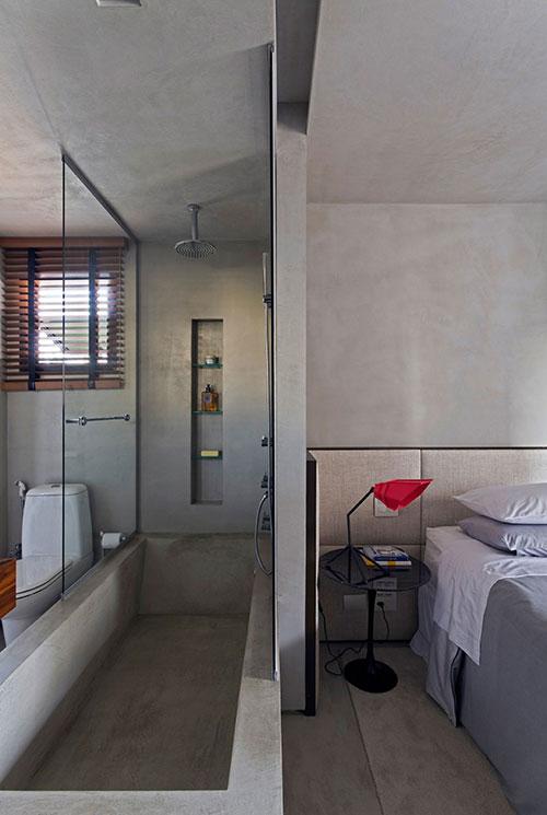 Stoere slaapkamer in Braziliaanse loft